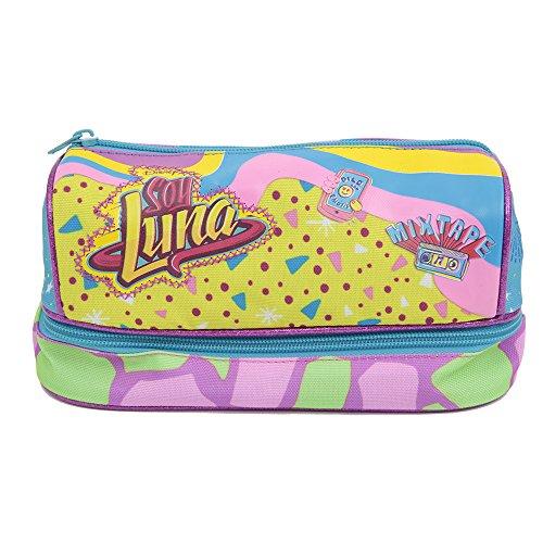 Soy Luna 18 Bustina Doppio Scomparto Housse Anti-Pluie, Multicolore (Stampato)