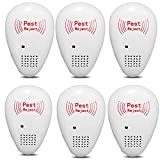 XZYP Electronic Repellent - Best Plug in - Get Rid of - Rodents, Mice, Rats, Bats,Spiders, Fleas, Bed Bugs, Flies, Ants, Fruit Fly! (6Pcs)