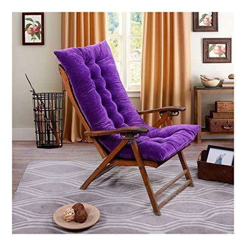 DHF Cojines para sillas Cojín para Tumbona de Almohadilla Plegable,Jardín Largo Colchoneta para Tumbona Hamaca al Playa Aire Libre Cojín Suave(1pcs) Solo cojín de Silla (Color : Purple)