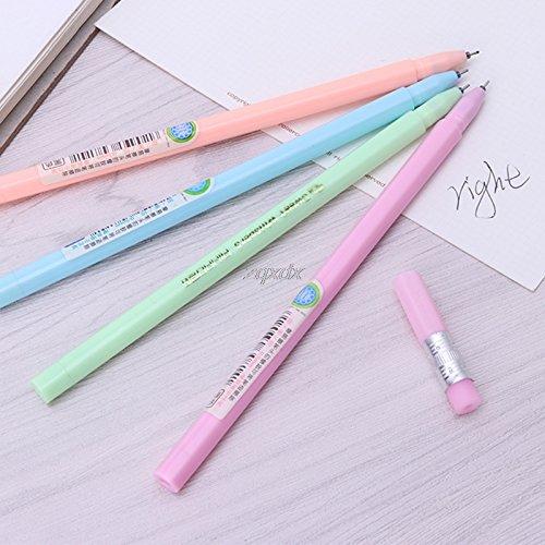 6 X Kawaii 0.38mm Gel Ink Stifte Roller Nadel Stift Feine Niedlich Gift */&