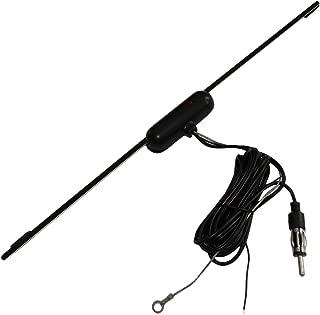 Aerzetix 2/metri per Autoradio C16619 antenna amplificata interna autoadesiva 34/cm