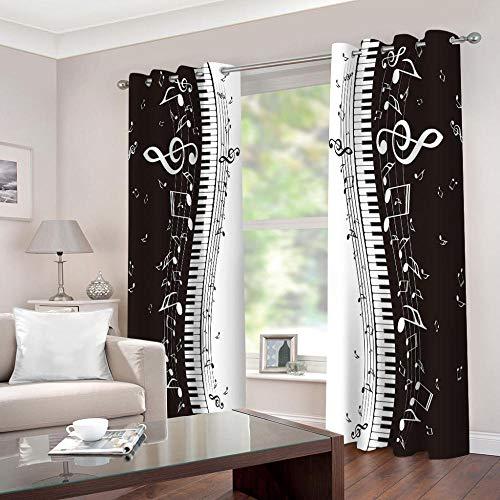 cortinas opacas blanco y negro 110 215