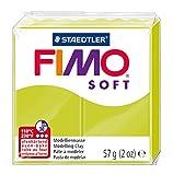 STAEDTLER 8020-52. Pasta para modelar de color verde limón Fimo Soft. Caja con 1 pastilla de 57 gramos.