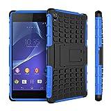 JFLAI Estuche Sony Z3, Funda de plástico Duro de Silicona Suave para el Soporte del teléfono de Sony Xperia Z3