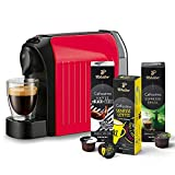 Tchibo Cafissimo easy Kapselmaschine (für Kaffee, Espresso und Caffè Crema) inkl. 30 Kapseln, Rot