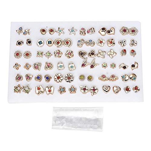 LYWBLACK 12-36 Pares/Juegos de diseño Aleatorio para Mujer, Estrellas, Joyas de Cristal de Cristal con Pendiente