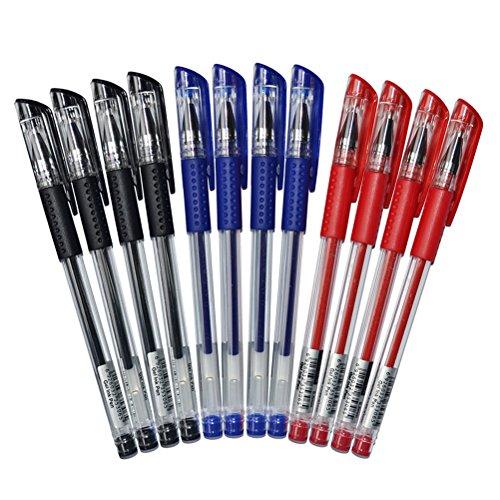 NUOLUX Inchiostro gel Penne, inchiostro nero, classico stile 0,5 mm 12 pz...