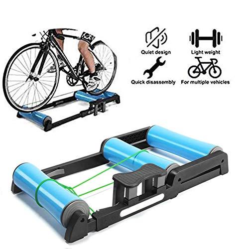Lixada Rodillos para Bicicletas en Casa Magn/ético Plegable con 6 Niveles de Resistencia para Neum/áticos de 26-28in Soporte de Entrenamiento de Ejercicio para Bicicleta
