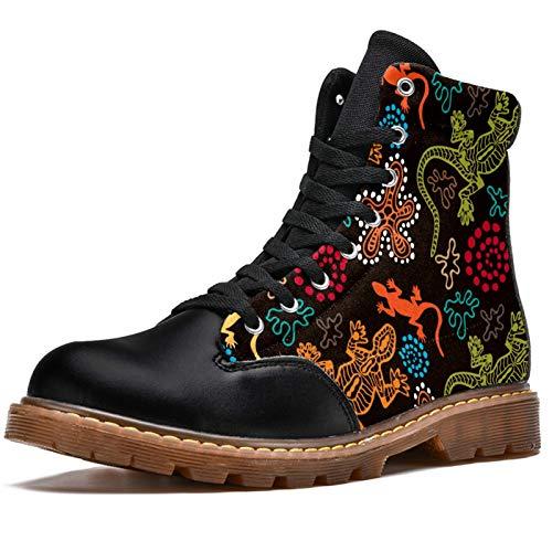 LORVIES - Botas de invierno para hombre, estilo bohemio, diseño de flores étnicas, (multicolor), 42 EU