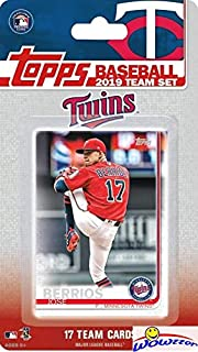 Minnesota Twins 2019 Topps Baseball EXCLUSIVE Special Limited Edition 17 Card Complete Team Set with Jose Berrios, Miguel Sano & Many More Stars & Rookies! Shipped in Bubble Mailer! WOWZZER!