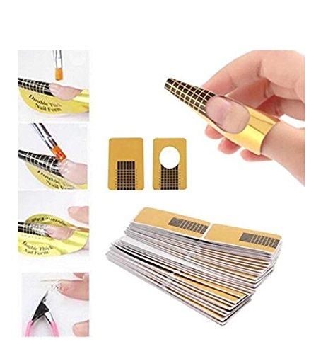 100pcs Nail Forms UV Gel für Nägel künstlerischen Anregungen für die Verlängerung der Guide Leitfaden Maniküre Design Tablett Papier Zubehör