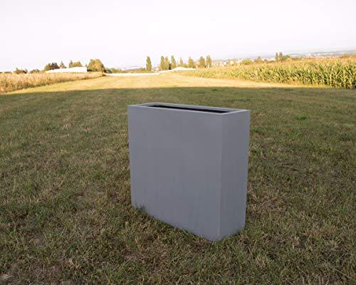 Elegant Einrichten Pflanztrog, Pflanzkübel Fiberglas als Raumteiler 84x30x80cm grau.