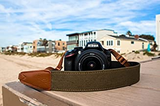 TETHER Marine Green Denim Camera Strap for DSLR or SLR Camera, DSLR Camera Strap. Camera Accessories. Canon Camera Strap. Nikon Camera Strap, Sony Camera Strap, Leica Camera Strap