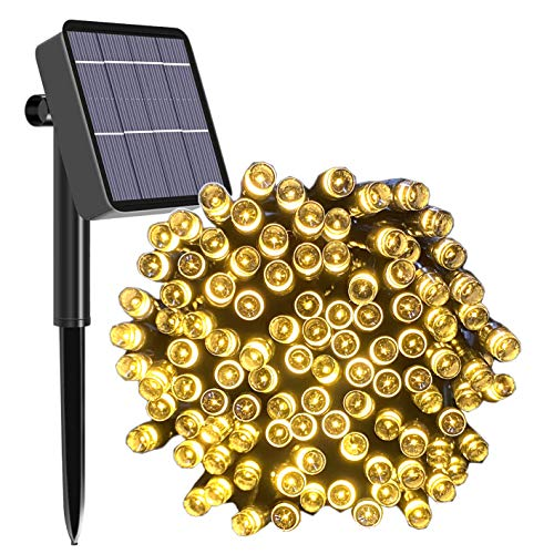 Solar String Lights Outdoor, 100ft 200 LED Solar Garden Fairy Lights...