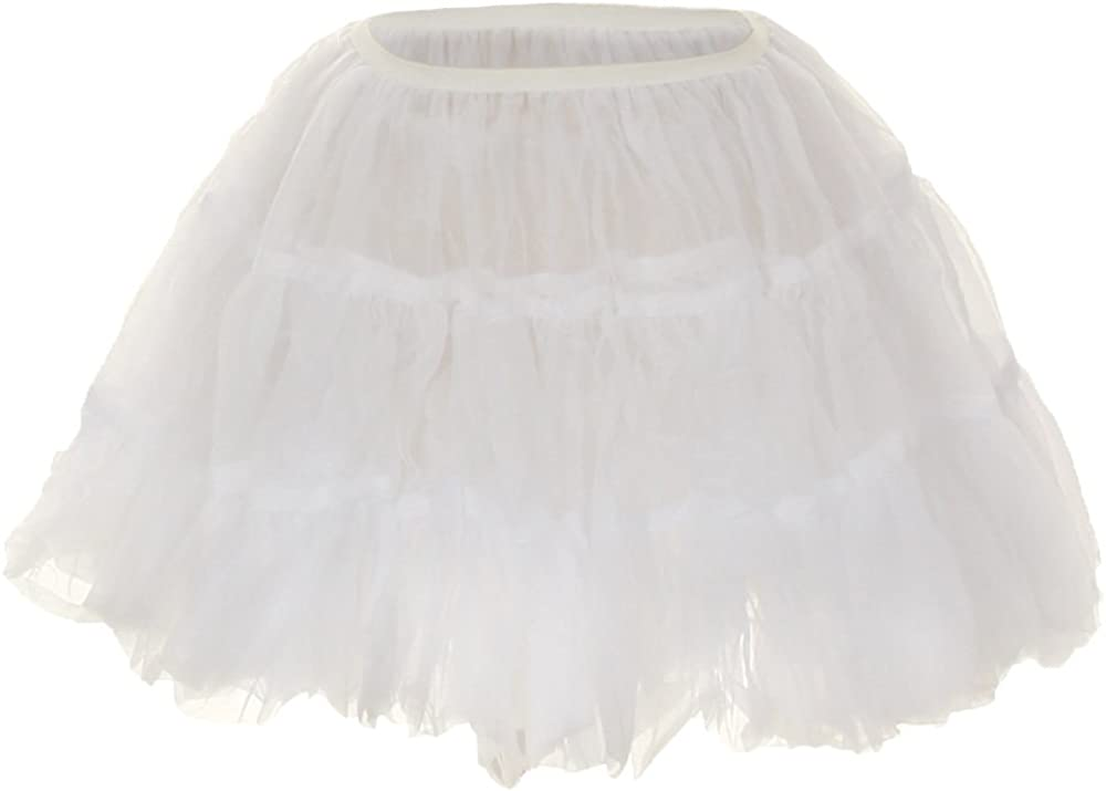 Kay's BTQ Girls Half Slip Petticoat Soft Lining Crinoline Elastic Waist Size 1-10