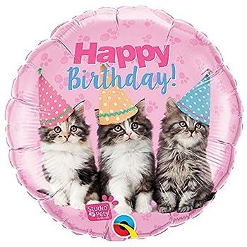 Qualatex Studio Pets Happy Birthday Kittens 18 Inch Foil Balloon