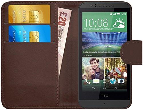 G-Shield Hülle für HTC Desire 510 Klapphülle mit Kartenfach - Braun