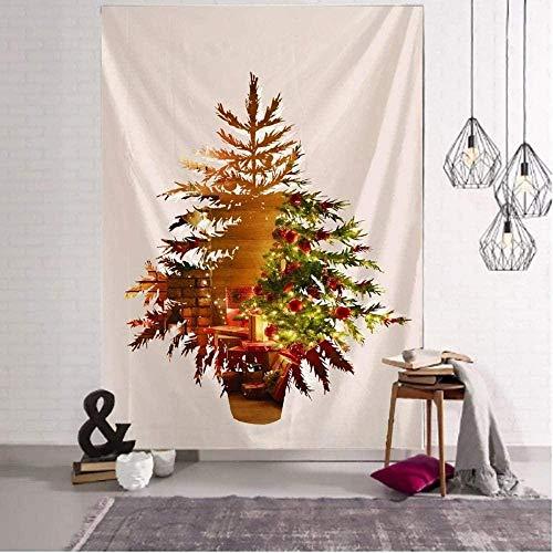 Tapiz Diseño creativo Manta de árbol de Navidad Yoga Colgante de pared Arte Toalla de playa grande Alfombra Alfombra de pared Decoración de Navidad 150x100cm