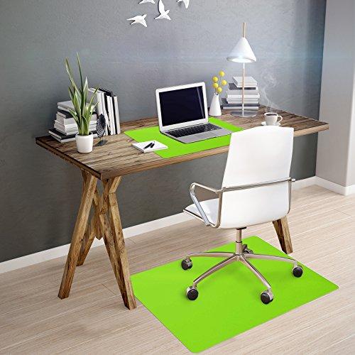 OfficeMarshal Alfombra de Color para Silla - Alfombrilla Protectora Suelo | Alfombra oficinas PP | Multiuso | Muchos Colores y tamaños (Lima, 75x120 cm)