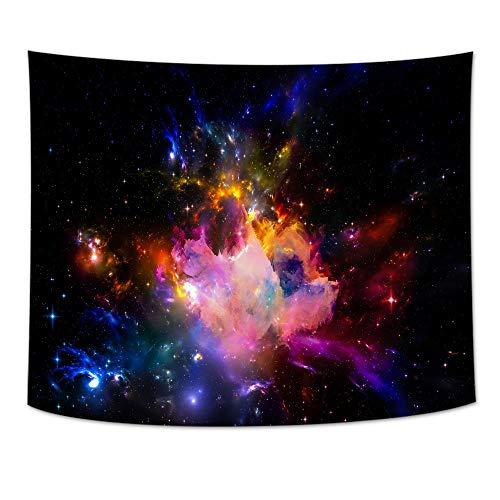 jtxqe Wohnzimmer rechteckige Tapisserie Stern Digitaldruck Plane malerei wanddecke 08 150 * 150 cm