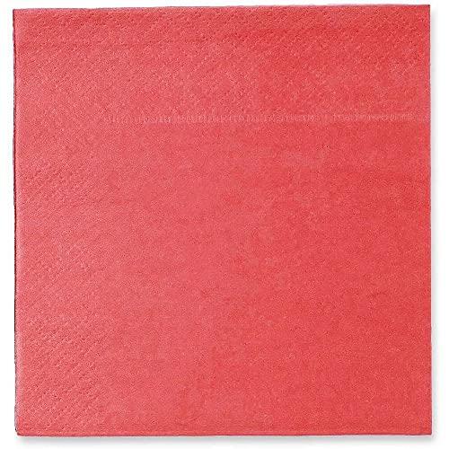 Servilletas de cóctel – Paquete de 200 servilletas de papel desechables, 2 capas, color rosa coral, 5 x 5 pulgadas plegadas