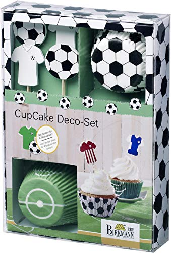 Birkmann RBV, 441 644, Cupcake Deko-Set Kick it, 40-teilig, Default_no_Selection_Value, bunt, 7 cm