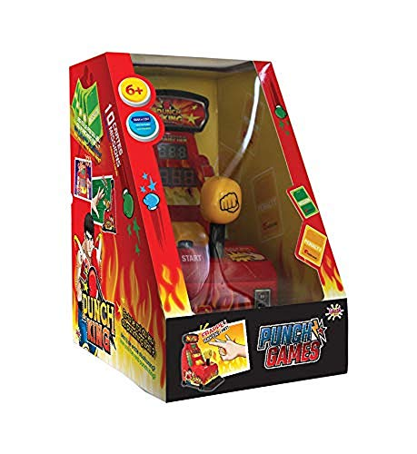 Splash Toys- Punch King-Le Premier Punching Ball a Punta delle Dita, 30614, Rosso, Giallo