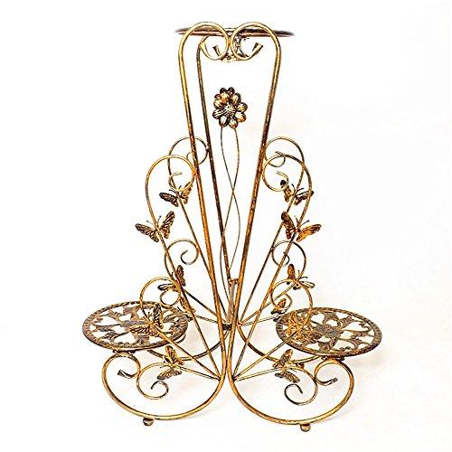 Les grilles de fleur de fer de style européen d'intérieur/tiennent le présentoir créatif de pot de fleur de plancher-modèle pour le balcon de salon (Couleur : #1, taille : 60 cm)