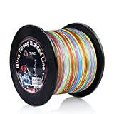 RUNCL Braided Fishing Line with 8 Strands, Fishing Line PE Material 1093Yds/1000M with Multiple Colors for Freshwater and Saltwater (1093Yds/1000M, 60LB(27.2kgs))