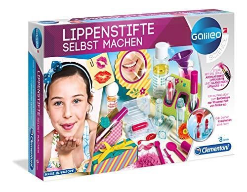 Clementoni 59117 Galileo Science – Lippenstifte selbst machen, Experimentierkasten für kleine Beauty-Fans, duftende Lippenpflegeprodukte herstellen, Spielzeug für Kinder ab 8 Jahren