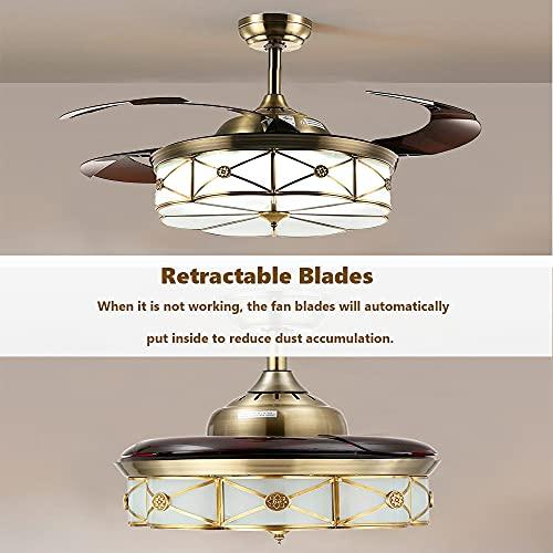 Aufworld Ventiladores para el techo con lámpara