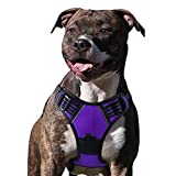 【Dog Harness Large】Fit Chest Girth 15-35.4 inch; please choose size based on your dog's chest girth by measuring around the widest part of your dog's chest before purchase (if between sizes, choose the larger size and be sure to set aside 1 inch), re...