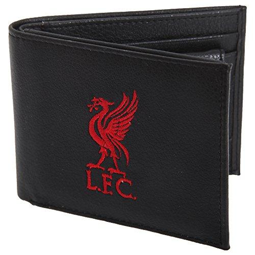 Liverpool FC Herren Leder Geldbörse mit Club Wappen (Einheitsgröße) (Schwarz)