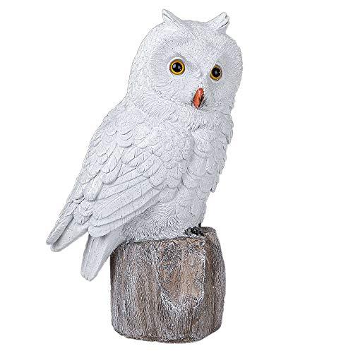 Deko Figur 'Wintereule', 29 cm, weiß