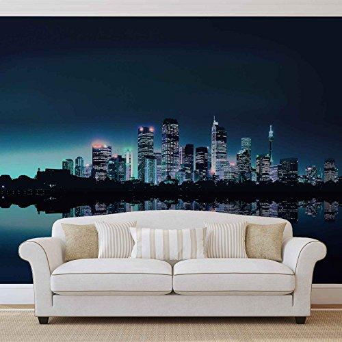 City Skyline - Forwall - Fototapete - Tapete - Fotomural - Mural Wandbild - (051WM) - M - 104cm x 70.5cm - VLIES (EasyInstall) - 1 Piece