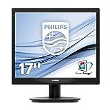 Philips 17S4LSB Monitor 17' LED, Formato 5:4, Risoluzione 1280 x 1024, 5 ms, DVI, VGA, Attacco VESA, Nero