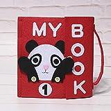 Xiangrun Mon Petit Livre D'activités,Livre Bebe Eveil,Jouet Educatif Livre D'éveil Sensitive - Livre en Tissu Fait Main 3D