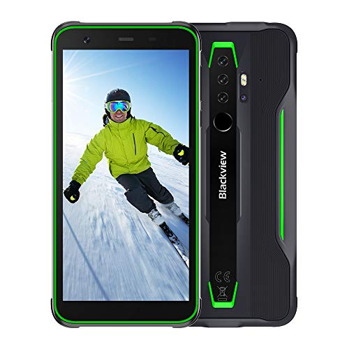 Blackview BV6300 Pro (2020) Outdoor Handy, 5,7 Zoll Display Android 10 mit 16MP +13MP Kamera, Helio P70 Octa core 6GB RAM+128GB Speicher, 4380mAh GPS NFC Face ID IP68 Outdoor-Smartphone (Grün)