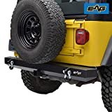 EAG Rear Bumper with 2 inch Hitch Receiver and D-Ring Classic Fit for 87-06 Wrangler TJ YJ
