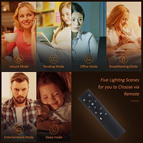 Tomshine Lampada da Terra con Telecomando 126 LED Lampada da Pavimento Lampada a Stelo in LED, per Soggiorno, Camera da letto e altre stanze [Classe di efficienza energetica A+]