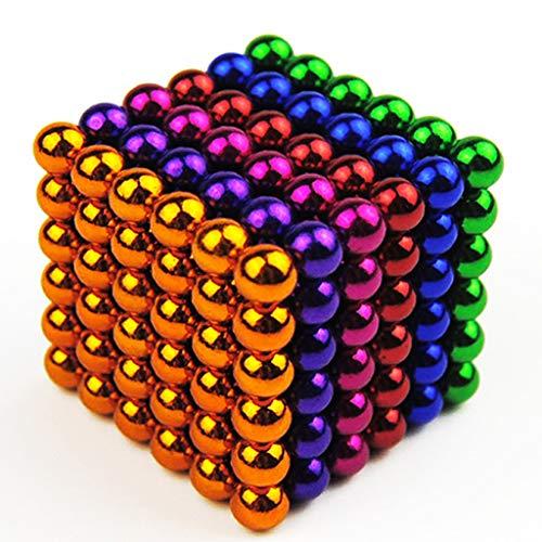 5MM Creativo Piccolo Sfere di Metallo Cube Desk decompressione Giocattolo per Tempo Libero Viaggiare Uscire Stress Relief e Bambini Intelligence Development 8 Colori,Color2