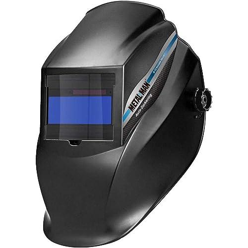 Metal Man T30316 - Black Variable Shade Auto-Darkening Welding Helmet
