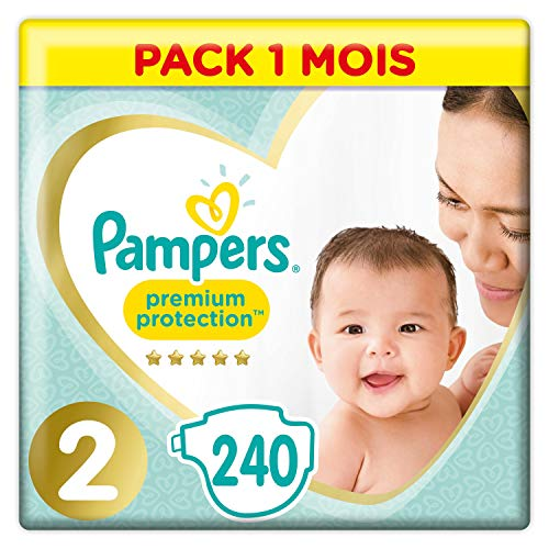 Pampers Premium Protection - Pañales talla 2 (4-8 kg) -