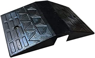 Gohbqany-TOO Ramp Road Along The Slope Threshold Slope Step Uphill Anti-Skid Pads Slipper Triangle Wooden Wheel Locator (Color : Black, Size : 70x40x11cm)