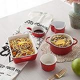 Vajilla Cubiertos de cerámica conjunto plato asado risotto plato de arroz plato para hornear al vapor torta horno cuenco combinación microondas hogar cinco piezas