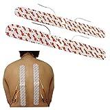 TENS Elektroden-Auflagen für Rückenschmerzen, Hexenschuss, Ischias, Arthritis x 2 Spinal Lang Tens Auflagen durch total TENS 4cm x 33cm -