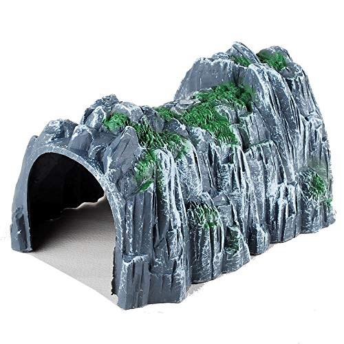 NWFashion Model Scenery 1/160 Scale Plastic Rockery Tunnel Track Train Accessories Toy