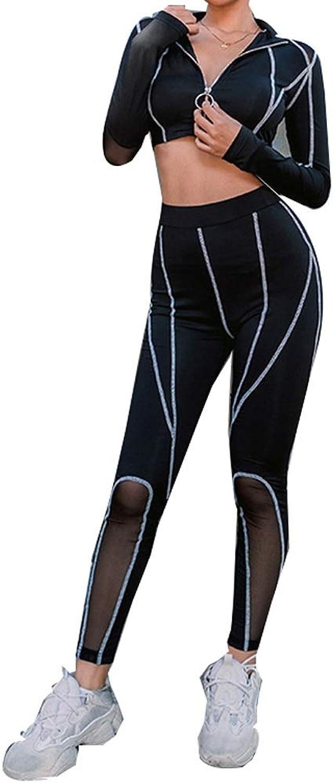 Sportswear Women's Yoga Exercise Fitness Running Gym Vest Pants 2 Piece Set (Size   L)