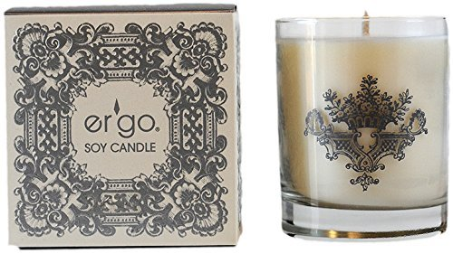 er'go Soy Candle Pearl Collection (7oz Silver Rosemary)