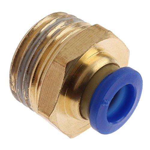 1pc accesorios neumáticos pulsadores rápidos en conector 1/8 '' 1/4 '' 3/8 '' 1/2 '' M5 Husillo macho-4 6 8 10 mm Conexión recta del tubo de aire DUO ER (Color : PC8 04)